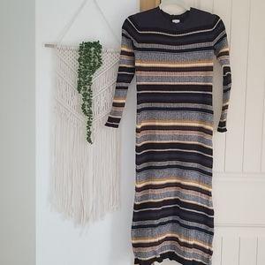 H&M Cotton Blend Sweater Dress